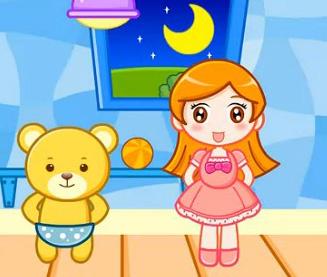 件 洋娃娃和小熊跳舞