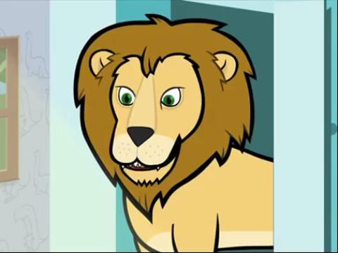 狮子爸爸简笔画