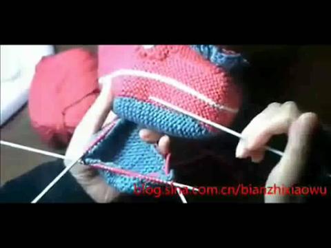 米妮织鞋的步骤图解
