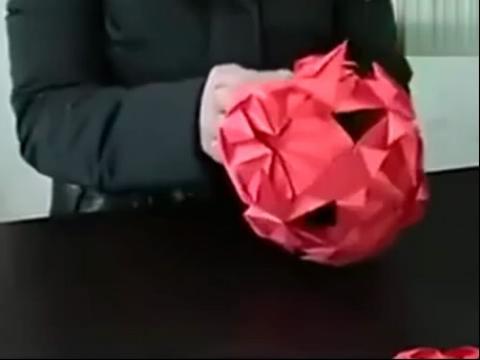 手工制作大全 折纸 3d花球折法视频教程
