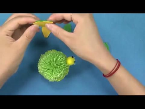 diy手工制作大全 绒球小海龟制作方法
