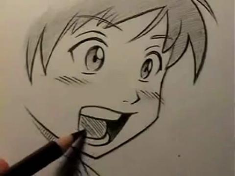 动漫人物 手绘画