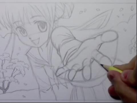 动漫人物画法教程 画动漫人物简笔画教程