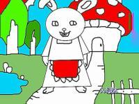 简笔画兔妈妈的画法