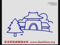 中国娃娃简笔画