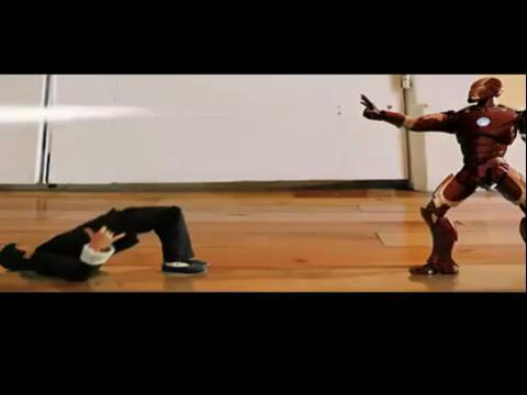 牛人自制李小龙大战钢铁侠定格动画,帅爆 自制钢铁侠盔甲 高清图片
