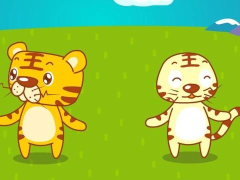 两只老虎-经典儿歌_乐乐简笔画
