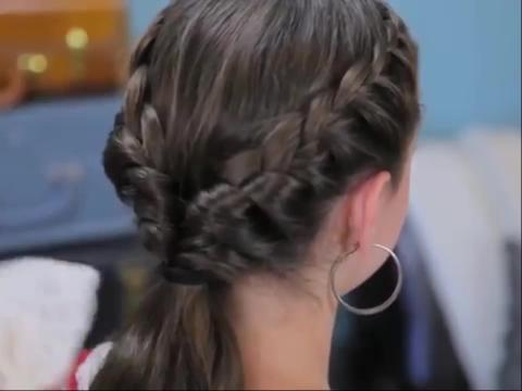 儿童发型编织法 小女孩编辫子发_发型设计图片