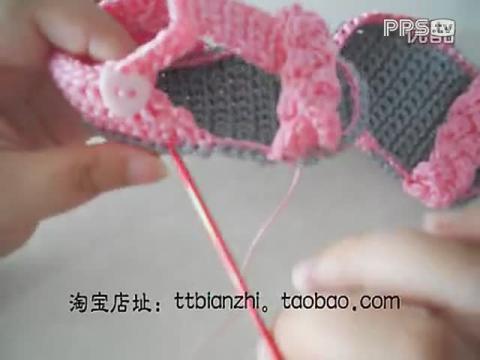 婴儿凉鞋的钩法图解