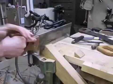 牛人自制木质车床全过程