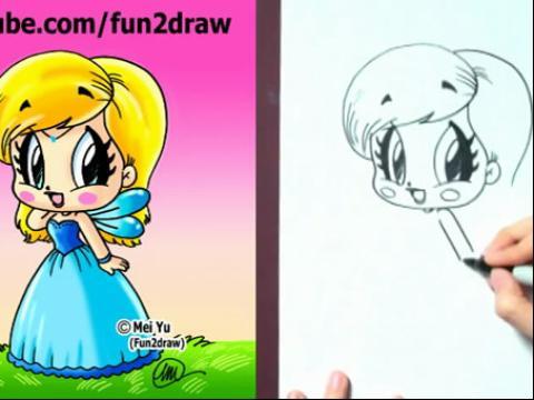 怎样画卡通水彩画