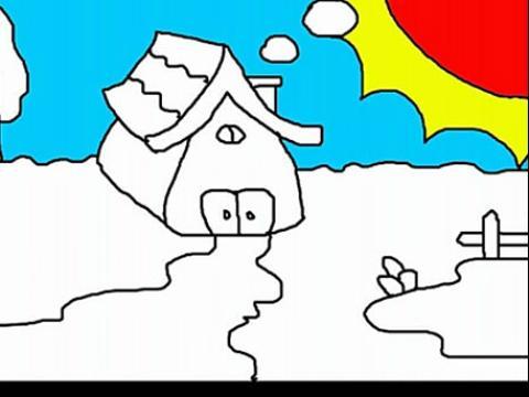 蘑菇房子简笔画图片展示_蘑菇房子简笔画相关图片下载