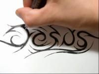 上帝纹身 图腾 素描 设计教学how