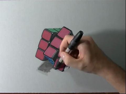 快速手绘画-如何画错位魔方 手绘作品大全
