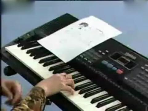 电子琴入门指法教程8左手弹奏图片