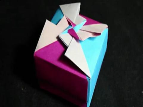 纸盒折法 折纸大全图解