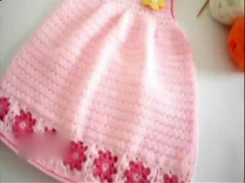 连衣裙编织视频教程 宝宝连衣裙钩针编织方法