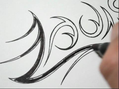 纹身英文字母设计图片展示-英文字母简单刺绣教程
