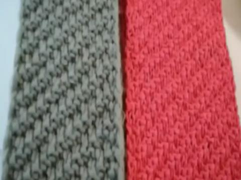 手工织围巾教程 围巾斜纹针织法