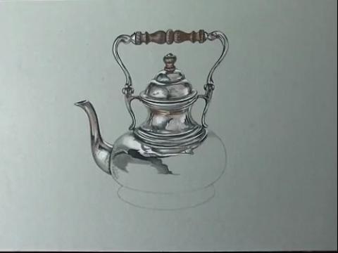 茶壶素描结构图