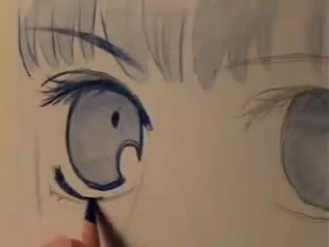 手绘画教程-如何画100种卡通人物眼睛