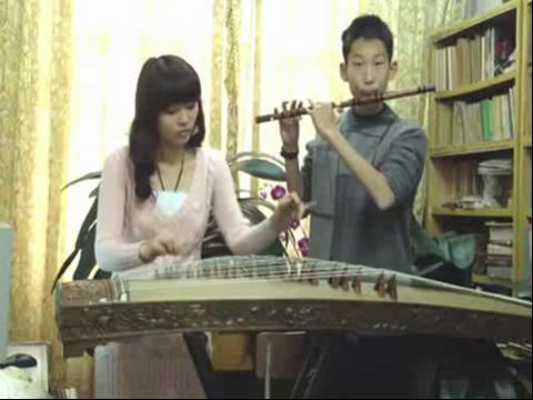 古筝笛子合作演奏 high歌