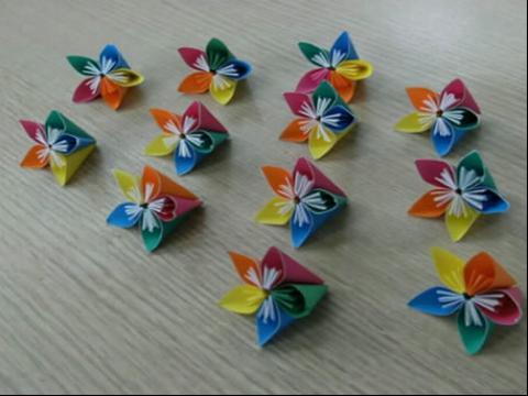 折纸花球的折法之维纳斯灯笼手工折纸花球的折纸视频 折
