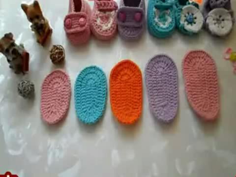 编织视频教程 宝宝鞋编织视频