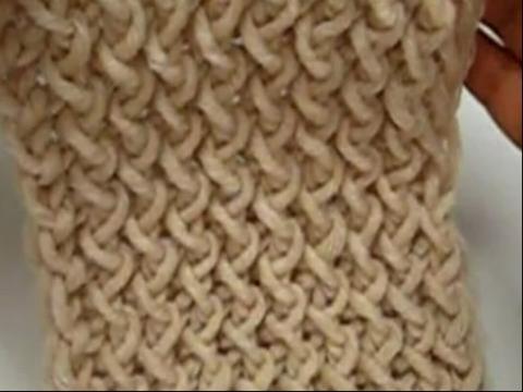 手工编织围巾花样 水浪花男士围巾