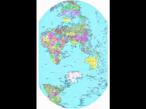 中文竖版世界地图即将面世