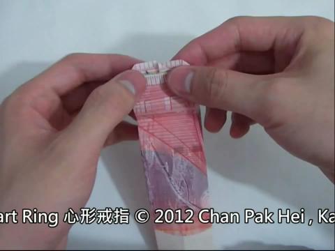 PPS视频 折纸教程 心形戒指折法 折纸大全图片