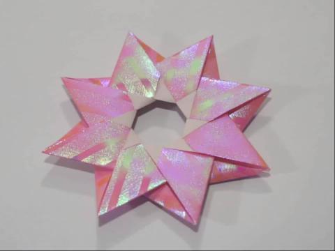 pps视频:折纸教程-北极星折法 diy折纸大全