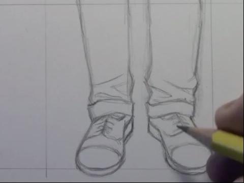 手绘画教程-如何画脚与鞋子