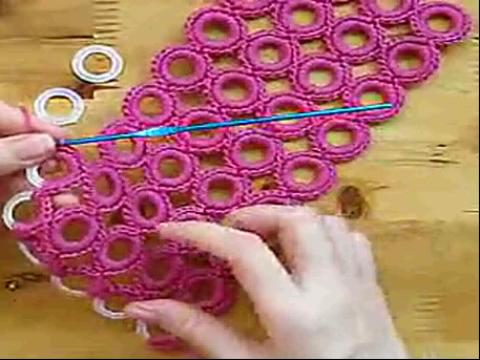 手工钩编织圈圈包包视频教程--当当编织