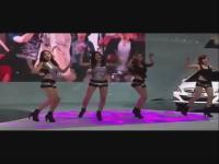 美女热舞 广州车展 韩国美女模特热舞