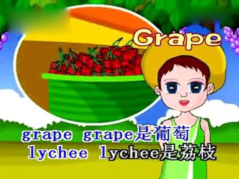 水果歌 儿童英语 儿歌