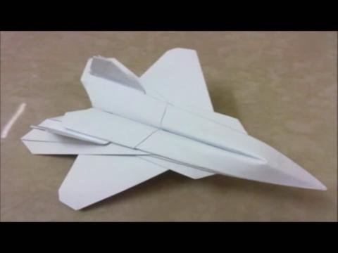 折纸大全 图解 f22 raptor纸飞机折法教程视频