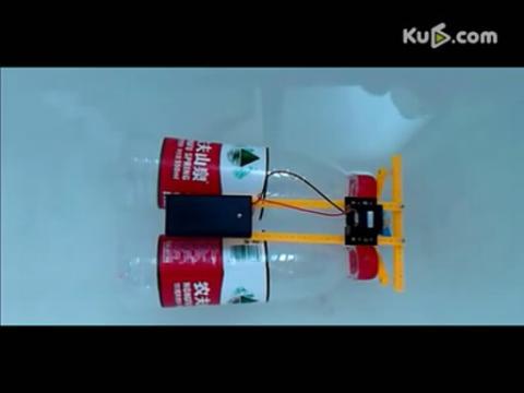 diy科技小制作 饮料瓶电动船
