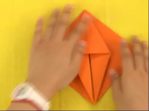 手工折纸大全图解-如何折蝴蝶书签的折法图解