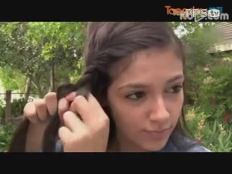 法国辫_法国美女编头发的方法视频
