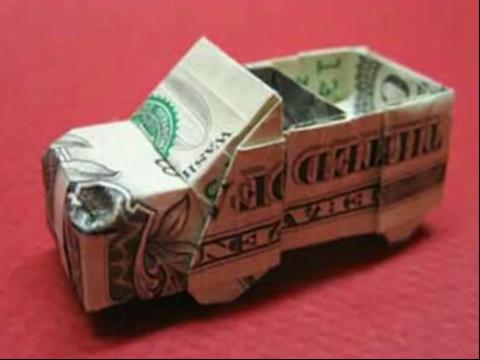 折纸大全◆diy手工折纸小汽车