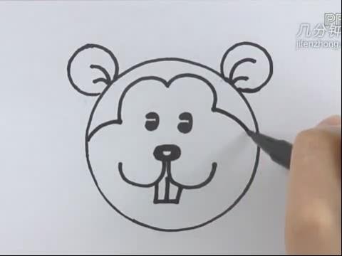 简笔画松鼠步骤 彩色松鼠简笔画法_动物简笔画