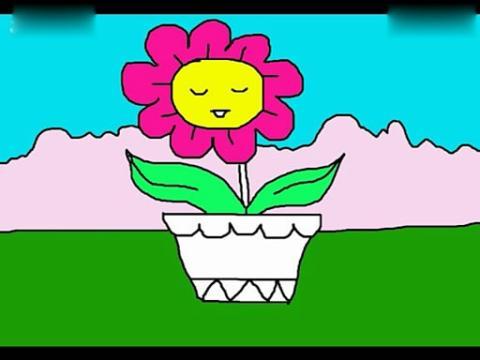 花盆 简笔画内容图片展示