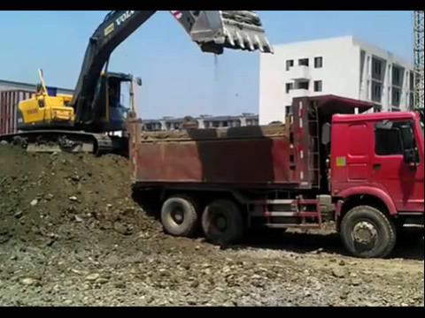 挖掘机装车,怎样才能装得好